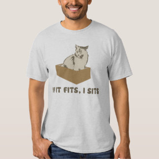 If It Fits, I Sits Cat Tee Shirt