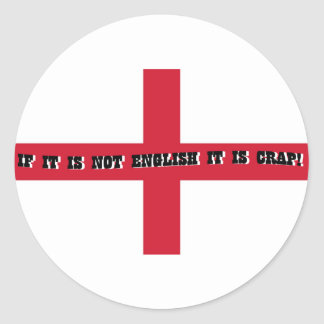 If it is not English... Classic Round Sticker