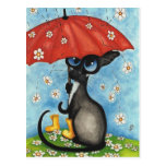 If it rained every time I thought of you By BiHrLe Postcard