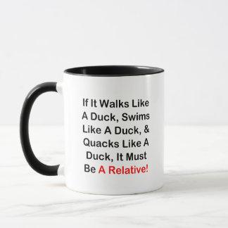 If It Walks Like A Duck, It Must Be  A Relative! Mug