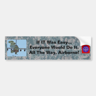 If IT Was Easy...Being a Paratrooper Car Bumper Sticker