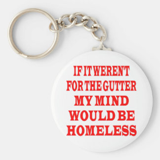 If It Weren't For Gutter My Mind Would be Homeless Basic Round Button Keychain
