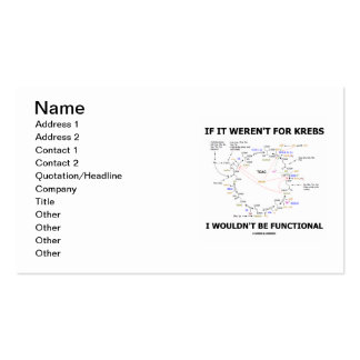 If It Weren't For Krebs I Wouldn't Be Functional Double-Sided Standard Business Cards (Pack Of 100)