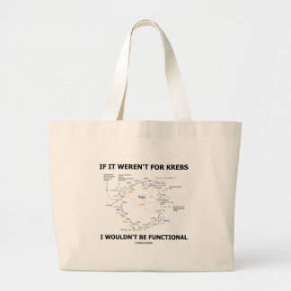 If It Weren't For Krebs I Wouldn't Be Functional Large Tote Bag