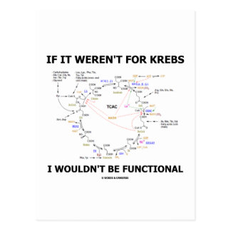 If It Weren't For Krebs I Wouldn't Be Functional Postcard