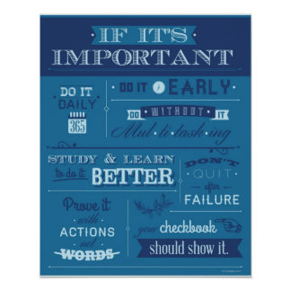 If It's Important - POSTER