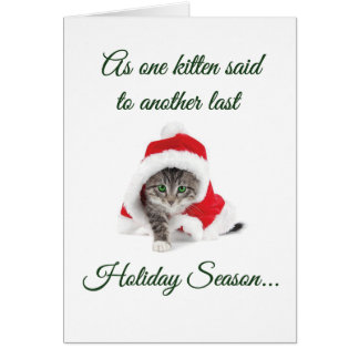 If Kittens Could Talk Holiday Card