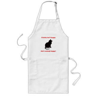 If Kitty Isn't Happy... Long Apron