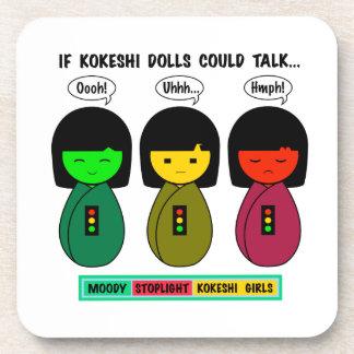 If Kokeshi Dolls Could Talk Beverage Coaster