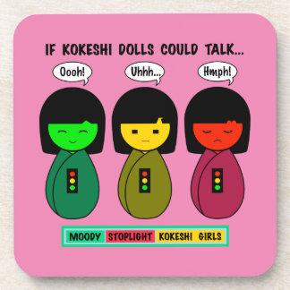 If Kokeshi Dolls Could Talk Coaster