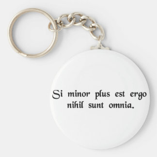 If less is more, then nothing is everything. basic round button keychain