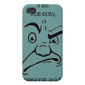 If Life Was Easy Stressed Out Man Graphic Case For iPhone 4