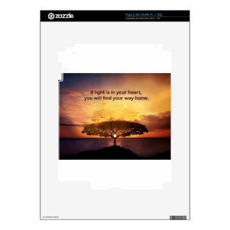 If Light is in Your Heart iPad 2 Decal