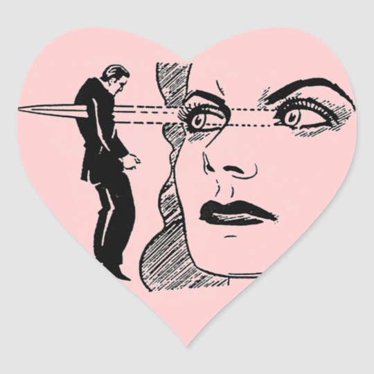 If Looks Could Kill (Dagger Eyes) Heart Sticker