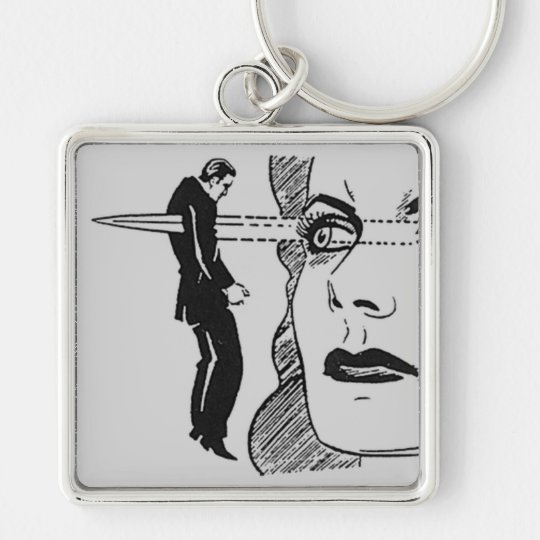 If Looks Could Kill (Dagger Eyes) Keychain