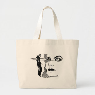 If Looks Could Kill (Dagger Eyes) Large Tote Bag