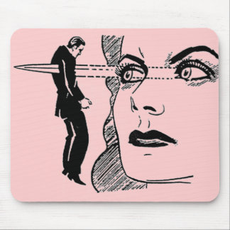 If Looks Could Kill (Dagger Eyes) Mouse Pad