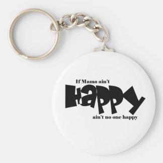 If mama aint happy basic round button keychain