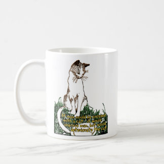 If man could be crossed with a cat... coffee mug