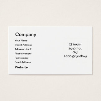 if mom says no...(black) business card