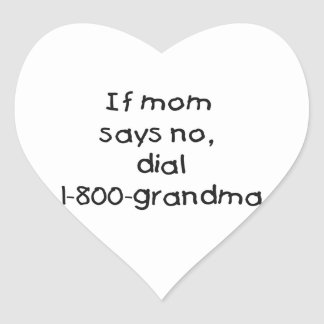 if mom says no...(black) heart stickers