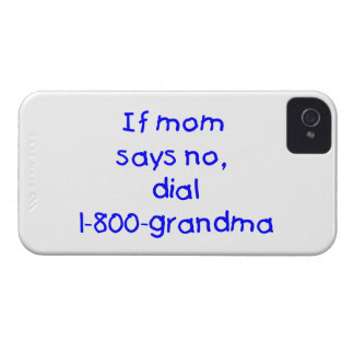 if mom says no...(blue) Case-Mate iPhone 4 cases