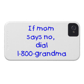 if mom says no...(blue) iPhone 4 Case-Mate case