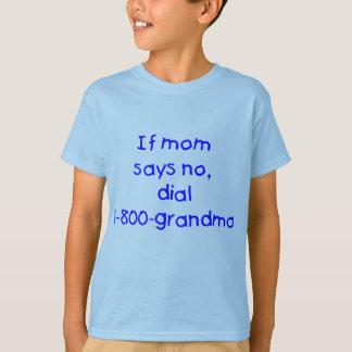 if mom says no...(blue) T-Shirt