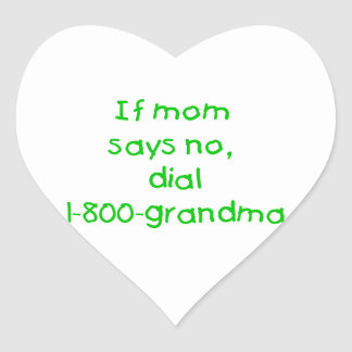 if mom says no...(green) heart stickers