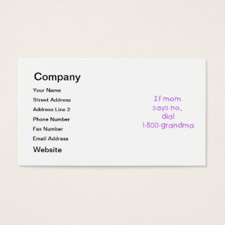 if mom says no...(purple) business card
