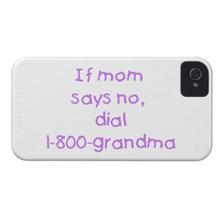 if mom says no...(purple) iPhone 4 case