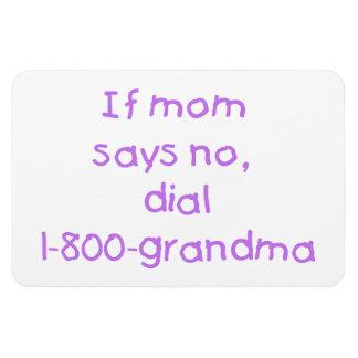if mom says no...(purple) magnet