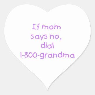 if mom says no...(purple) sticker
