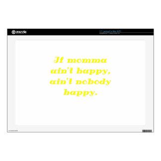 If Momma Aint Happy Aint Nobody Happy Laptop Skin