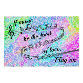 """If music be the food of love"" -Shakespeare Poster"