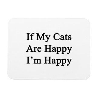 If My Cats Are Happy I'm Happy Rectangular Photo Magnet