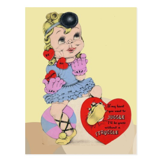 If my heart you want to juggle postcard