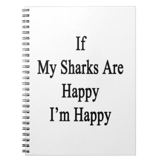 If My Sharks Are Happy I'm Happy Spiral Note Book