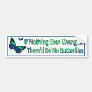 If nothing changed there'd be no butterflies. bumper sticker