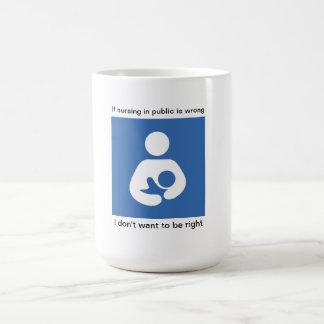 If nursing in public is wrong..... coffee mug