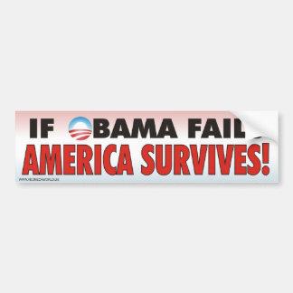 If Obama Fails - American Survives Car Bumper Sticker