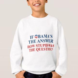 if obama's the answer light shirt