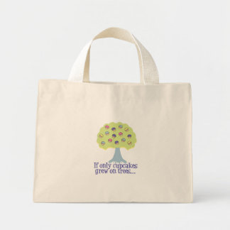 If only Cupcakes on Trees Canvas Bags