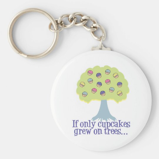 If only Cupcakes on Trees Keychain