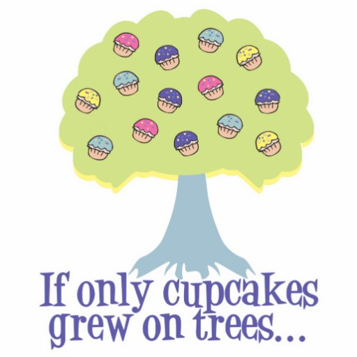 If only Cupcakes on Trees Photo Cut Out