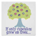 If only Cupcakes on Trees Poster