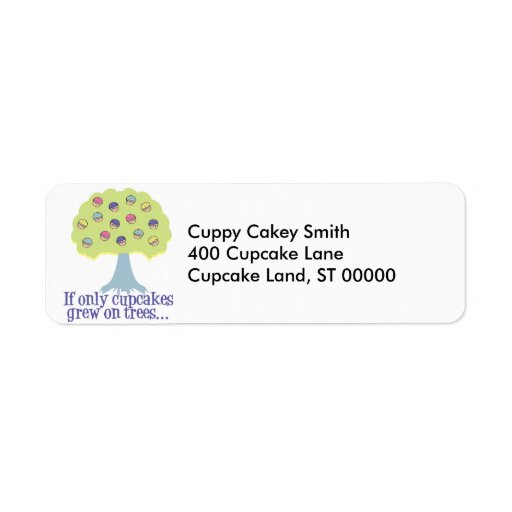 If only Cupcakes on Trees Return Address Label