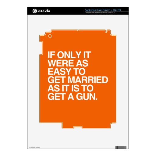 IF ONLY IT WERE AS EASY TO GET MARRIED -.png Skin For iPad 3