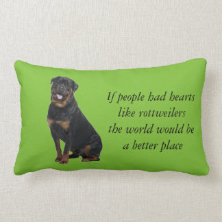 If people had hearts like rottweilers pillow