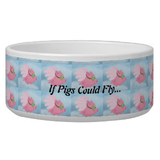 If Pigs Could Fly Animal Feed Bowl Dog Water Bowls